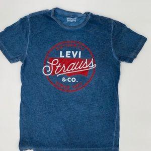Levi Strauss & Co, blue T-shirt
